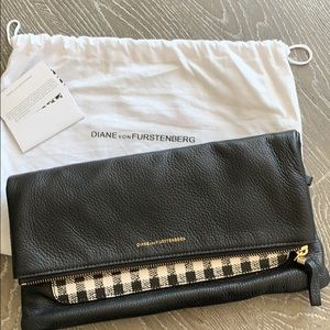 DVF Houndstooth Clutch